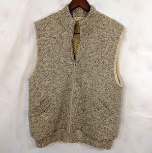Vintage Winona Knits Sherpa lined zip up vest
